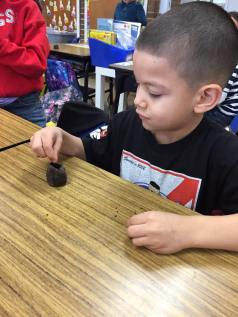 Using our sense of TOUCH. They feel cold, wet, and squishy.
